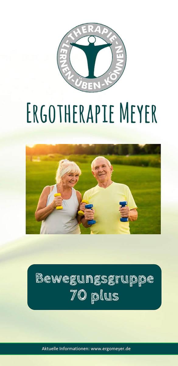 Infobroschüre der Ergotherapie Meyer zum Thema Geriatrie