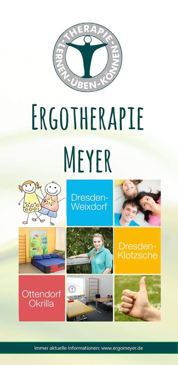 Infobroschüre über die Ergotherapie Meyer