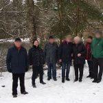 Wandergruppe am Silbersee bei Schnee