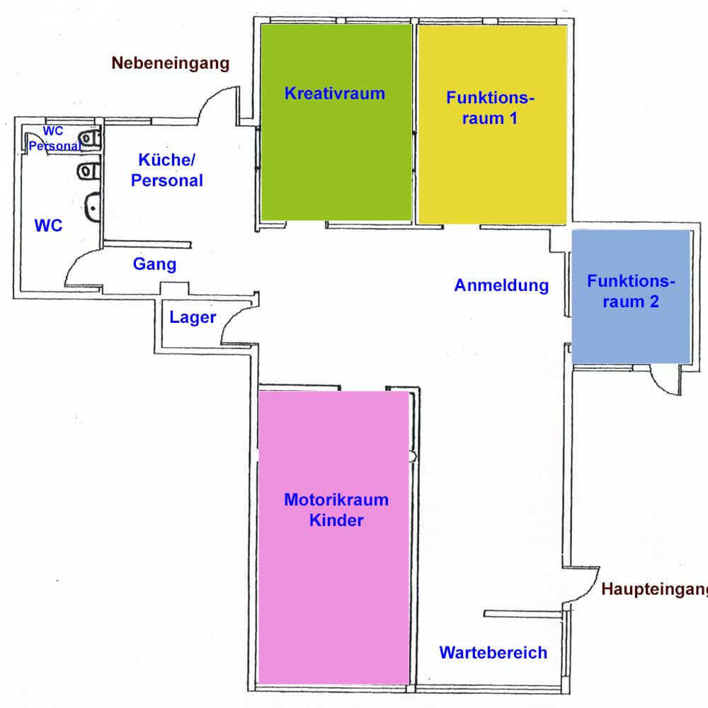 Grundriss Praxis Dresden Innenstadt Ergotherapie