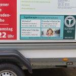 Hüpfburganhänger mit Ergotherapie Meyer-Werbung