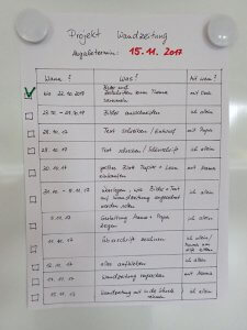 Aufgabenzeitplan