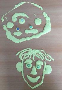 Gesicht aus Knete