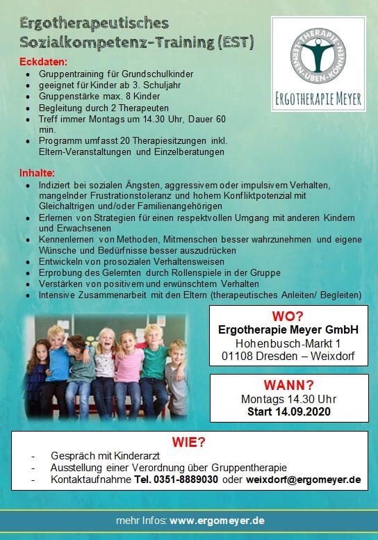 Infoblatt Ergotherapeutisches Sozialkompetenz-Training EST