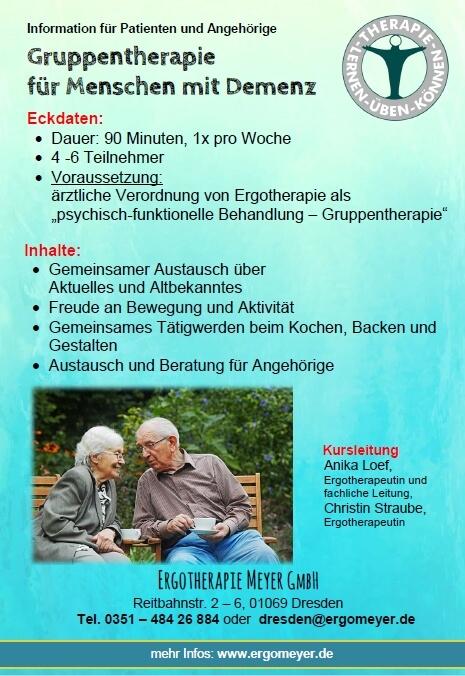 Infoblatt Demenzgruppe